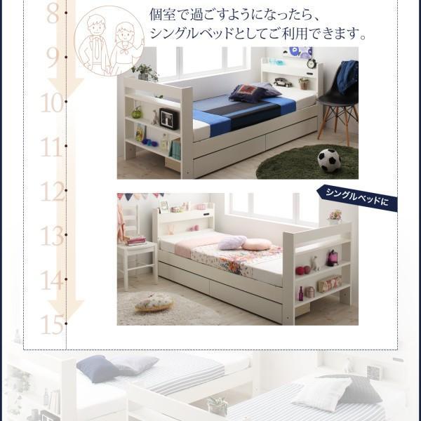 二段ベッド クイーンサイズベッドにもなるスリム2段ベッド ベットフレームのみ フルガード クイーン|alla-moda|04