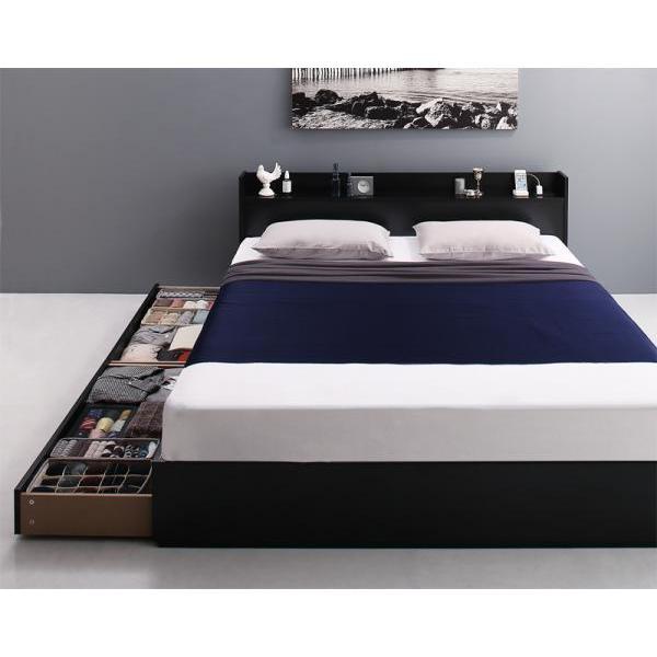 ベッドフレームのみ クイーン収納ベッド alla-moda 15