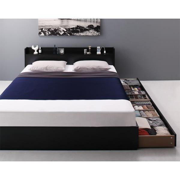 ベッドフレームのみ クイーン収納ベッド alla-moda 16