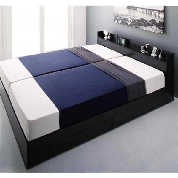 ベッドフレームのみ クイーン収納ベッド alla-moda 19