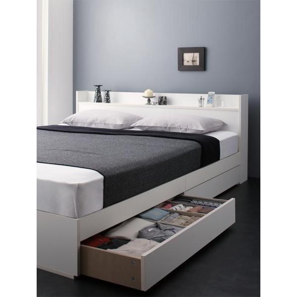 ベッドフレームのみ クイーン収納ベッド alla-moda 21