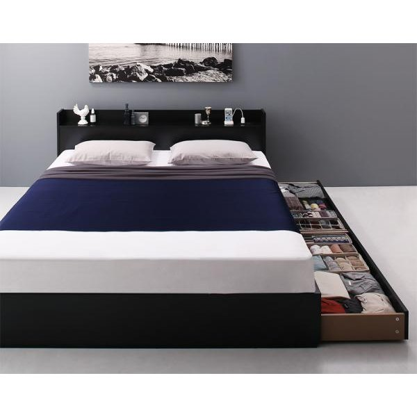 ベッド ダブル ベッド 収納 スタンダードボンネルコイル|alla-moda|16