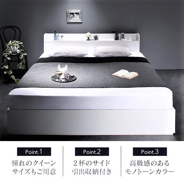 ベッド シングル ベッド 収納 国産カバーポケットコイル|alla-moda|03