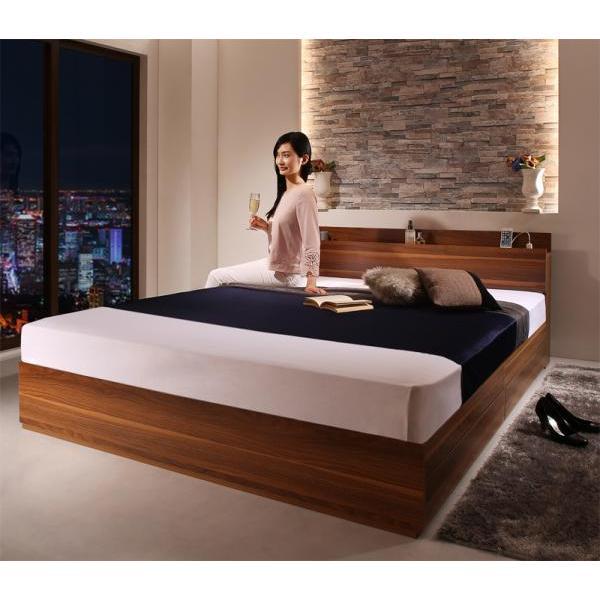 ベッドフレームのみ ベッド セミダブル 収納|alla-moda|16