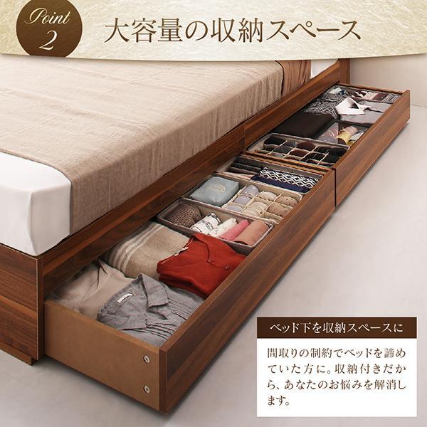 ベッドフレームのみ ベッド セミダブル 収納|alla-moda|06