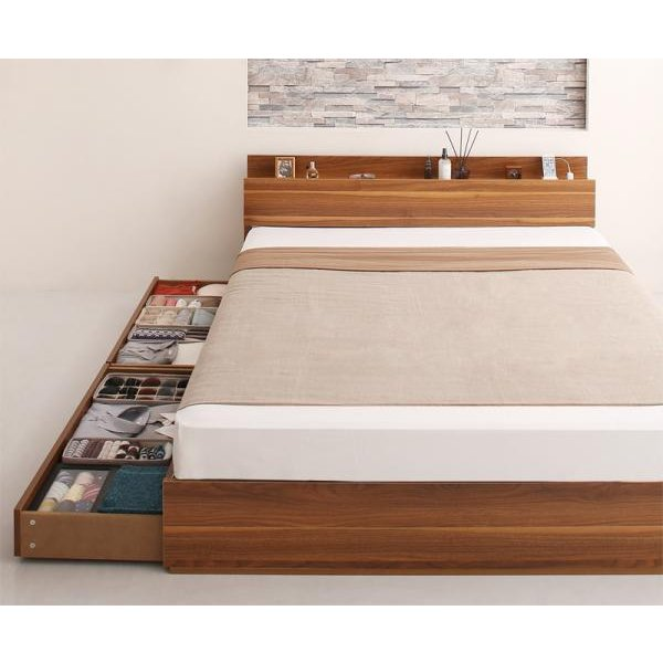 ベッド ダブル ベッド 収納 プレミアムボンネルコイル|alla-moda|17