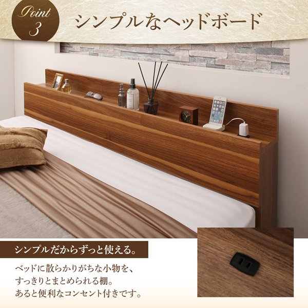 ベッド 収納 セミダブル 国産カバーポケットコイル|alla-moda|08