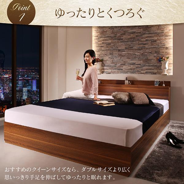 ベッド シングル ベッド 収納 フランスベッド マルチラススーパースプリングマットレス付き|alla-moda|04
