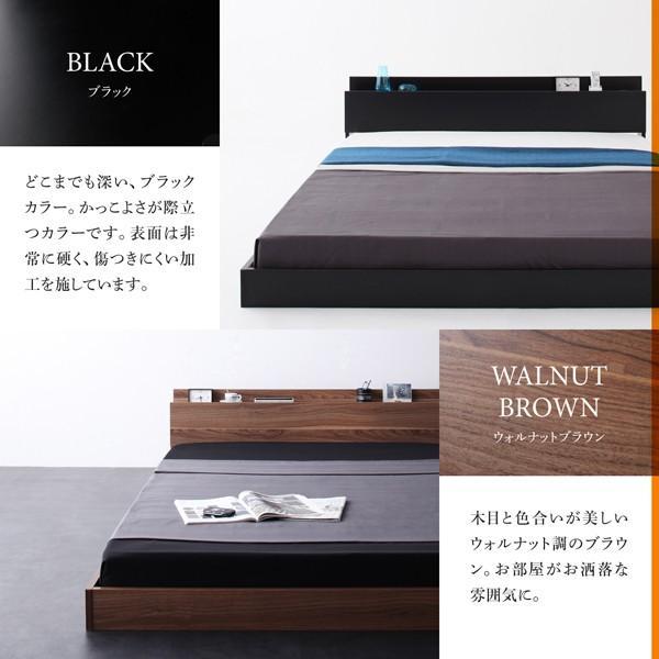 ベッド フロアベッド シングル スタンダードボンネルコイル 棚・コンセント付き|alla-moda|12
