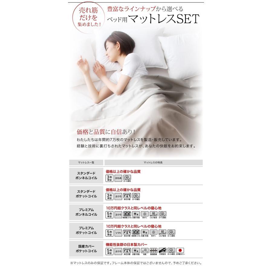 ベッド ダブル レザーフロアベッド プレミアムボンネルコイル|alla-moda|16