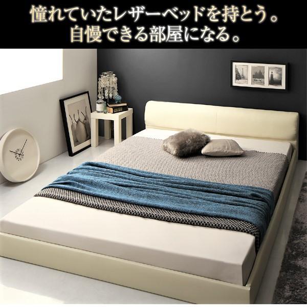 ベッド ダブル レザーフロアベッド プレミアムボンネルコイル|alla-moda|04