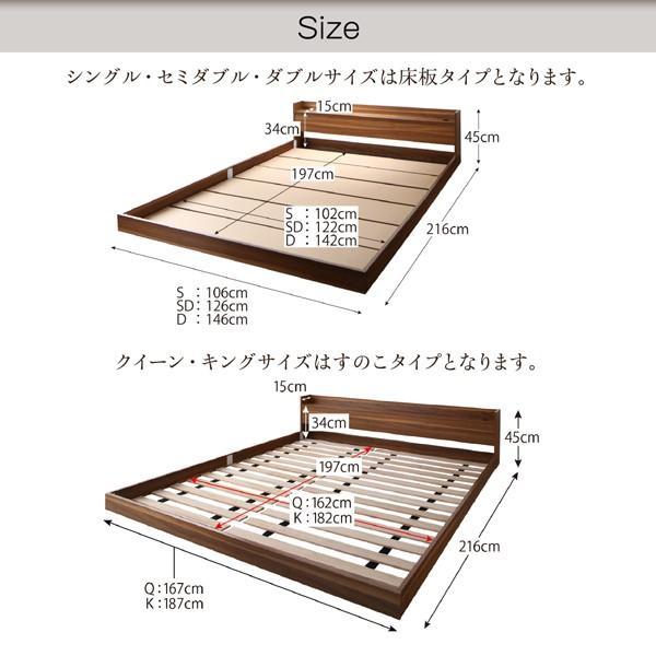 ベッド ダブル 大型フロアベッド スタンダードボンネルコイル|alla-moda|11