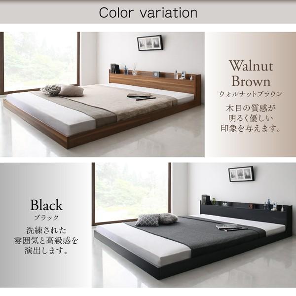 ベッド ダブル 大型フロアベッド スタンダードボンネルコイル|alla-moda|10