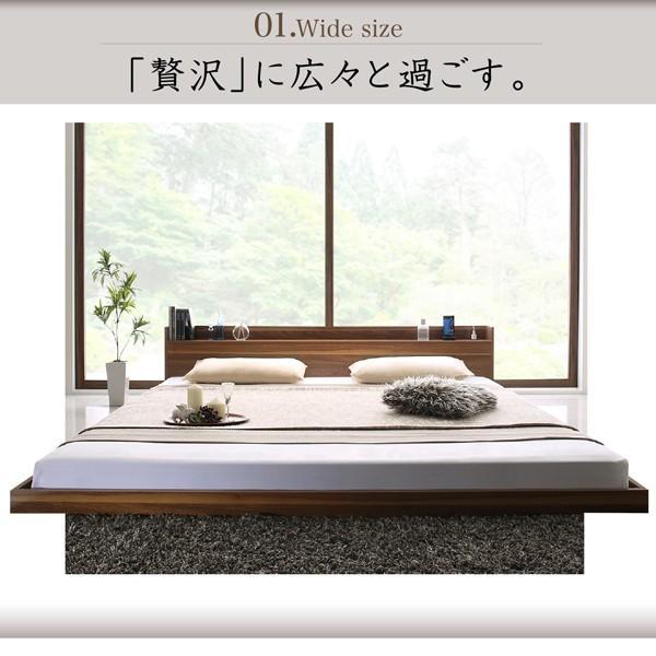 ベッド ダブル 大型フロアベッド プレミアムポケットコイル|alla-moda|04