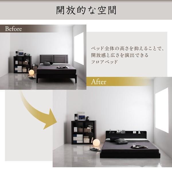 ベッド ダブル 大型フロアベッド プレミアムポケットコイル|alla-moda|07