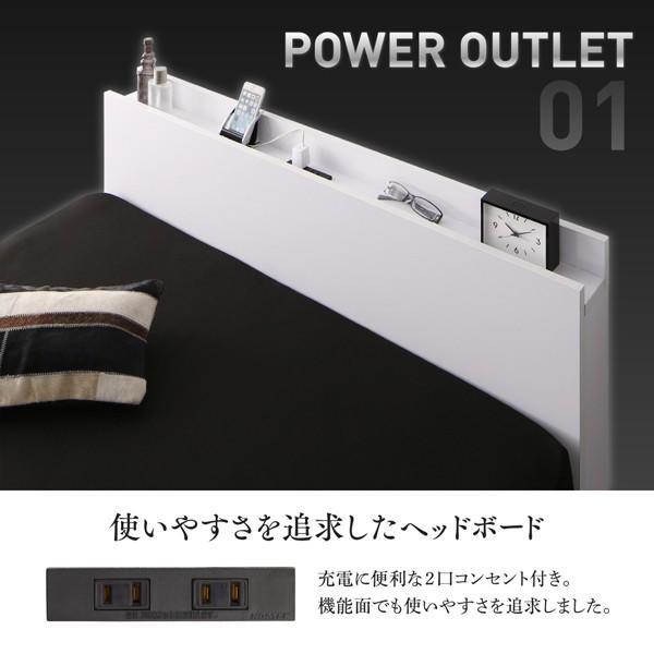 ベッド 収納 セミダブル スタンダードボンネルコイル 引き出しなし 小上がり alla-moda 04