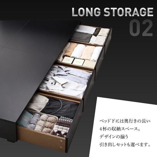ベッド セミダブル 収納 フランスベッド マルチラススーパースプリングマットレス付き 引き出しなし 小上がり|alla-moda|05