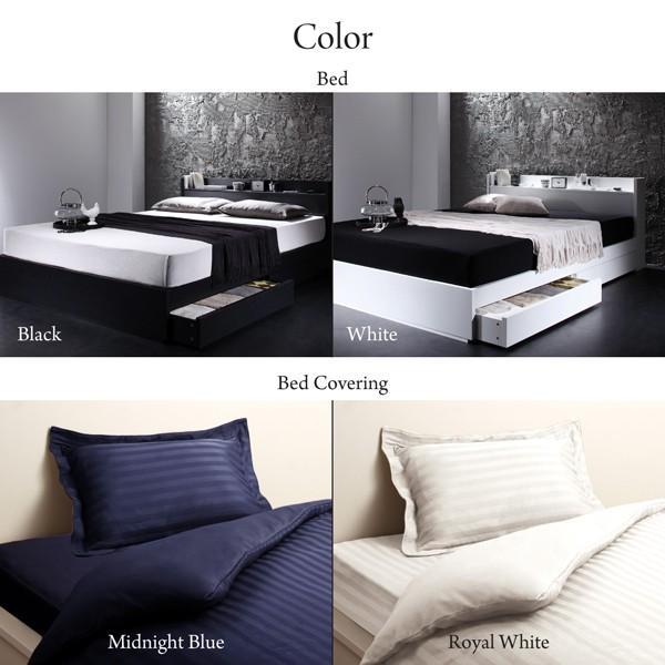 ベッドフレームのみ ベッド セミダブル ボックスシーツ付 セット|alla-moda|13