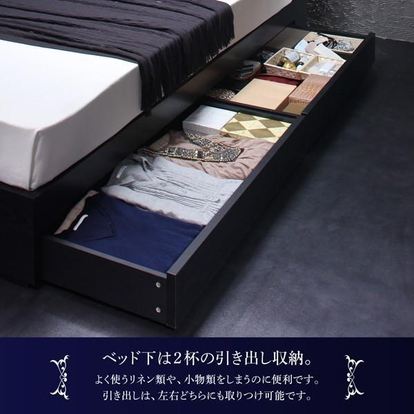 ベッドフレームのみ ベッド セミダブル ボックスシーツ付 セット|alla-moda|07