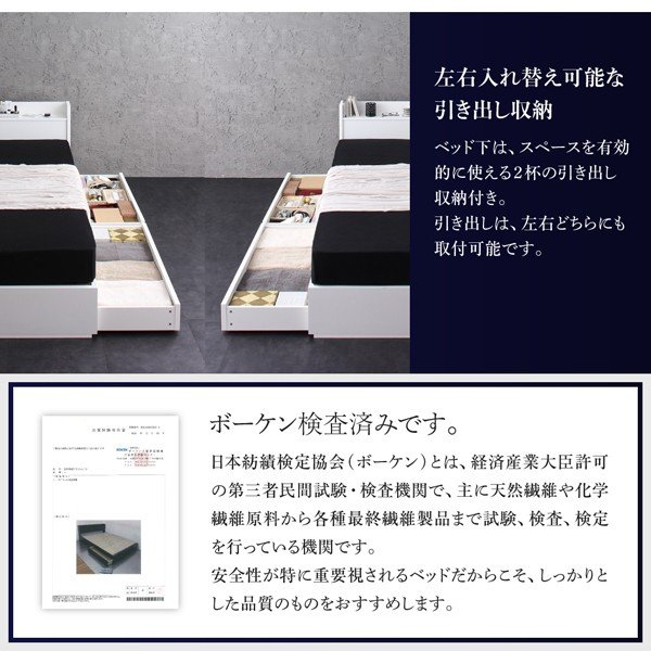 ベッド セミダブル ボックスシーツ付 セット スタンダードボンネルコイル|alla-moda|08
