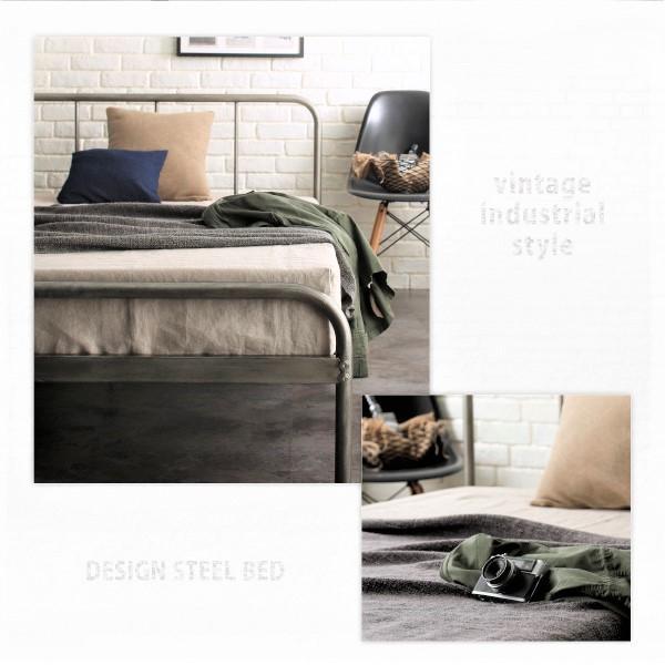 ベッドフレームのみ スチールベッド ダブル|alla-moda|10