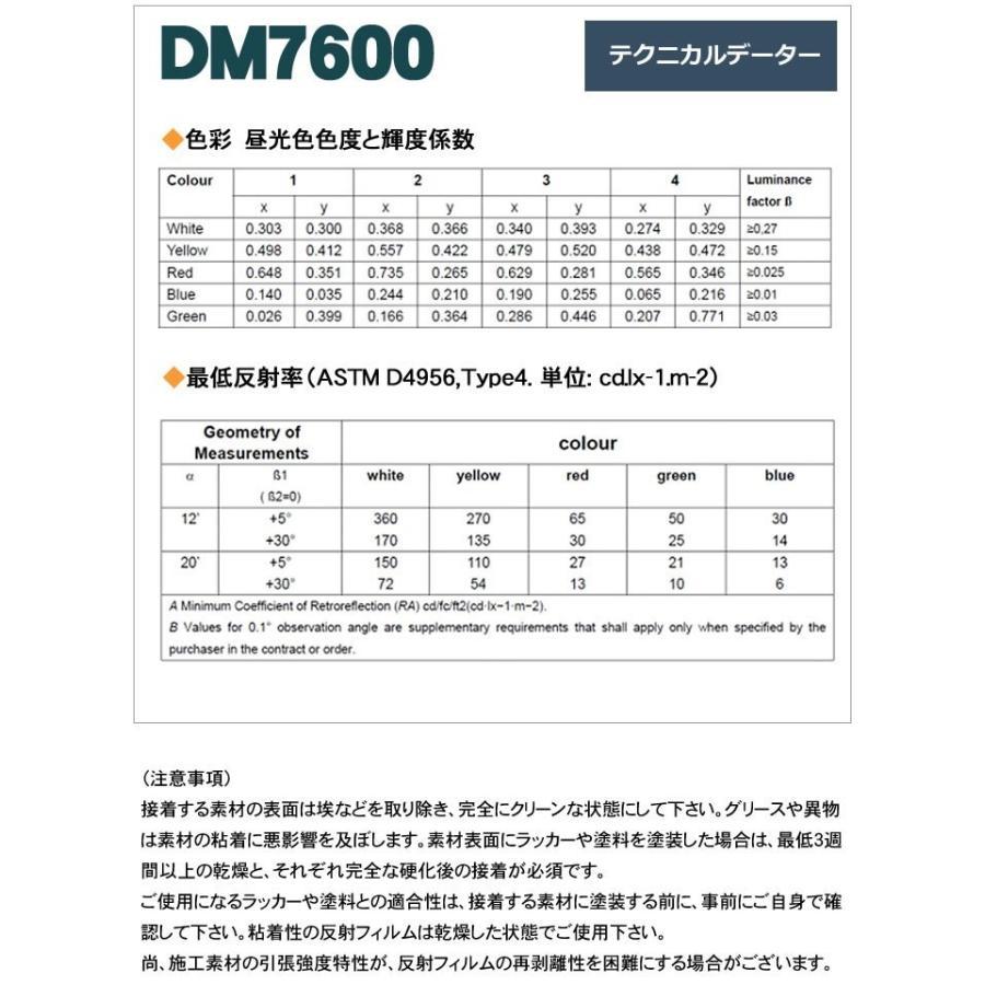 反射シート 反射材 道路 屋外用 マイクロプリズム 高輝度 NETIS 蛍光色 dm7600fA4サイズ|alla-moda|07