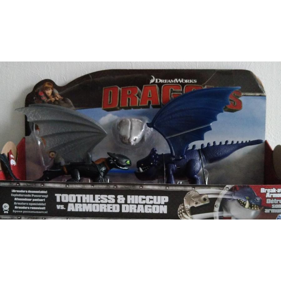 スピンマスター ヒックとドラゴン ヒック & トゥース VS アーマードドラゴン