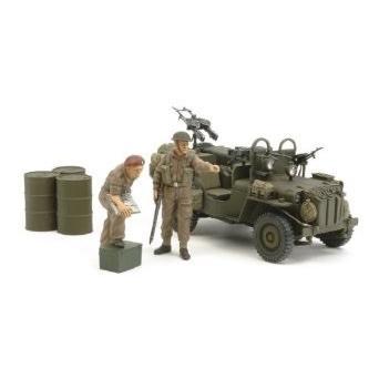 1/35 タミヤ スケール限定シリーズ イギリス SAS コマンドカー 1944年(人形2体付き) 25152