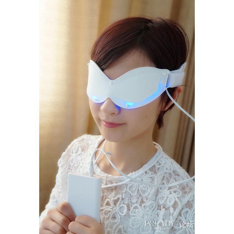 アイマスク 目元ケア 美容液用品と併用 美容成分の吸収・浸透を補助  シワ取り 目のくま解消 BLUE LEDアイマスク LED-EM-BR006|allbuy|03