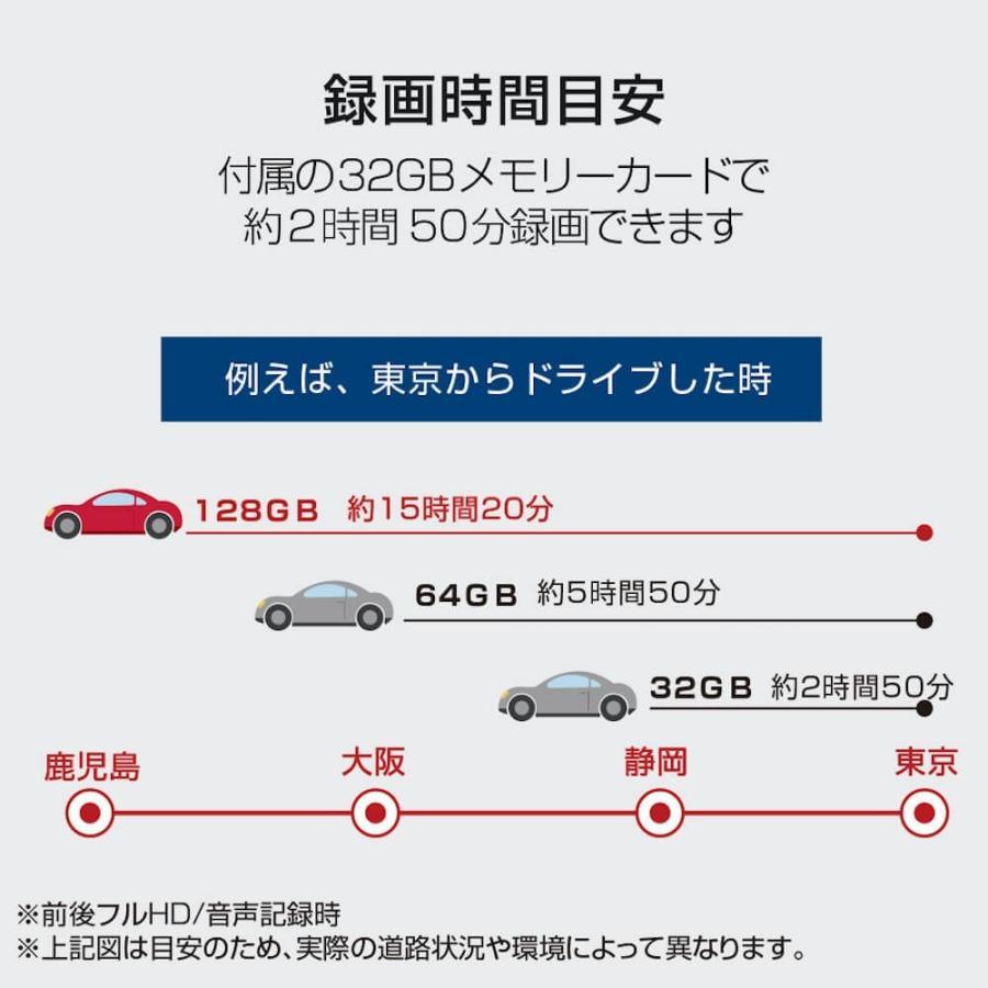 2カメラ ドライブレコーダー フルHD 200万画素 STARVIS Exmor 地デジ対策 128GB対応 32GB付属 駐車監視 トラック向け 大型車 中型車 Force100GS MFC100GS-32G|allbuy|14