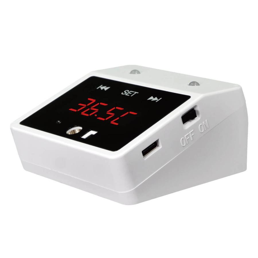 触れずに計れる 温度はかろうちゃん 三脚スタンドセット 非接触型 温度計 自動測定 1秒測定 時計 USB接続 乾電池式 商店 家庭 公共場所 企業 学校 MR-NCTB2-SET|allbuy|14