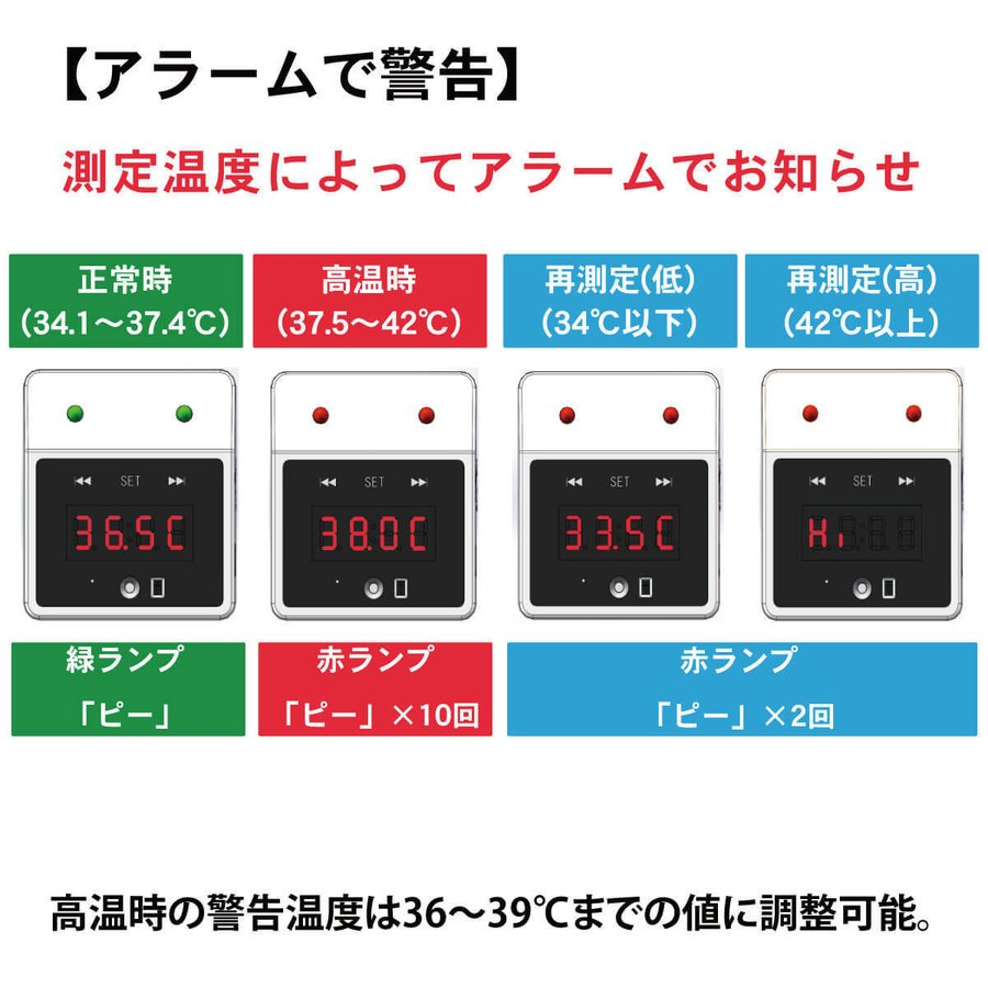 触れずに計れる 温度はかろうちゃん 三脚スタンドセット 非接触型 温度計 自動測定 1秒測定 時計 USB接続 乾電池式 商店 家庭 公共場所 企業 学校 MR-NCTB2-SET|allbuy|03