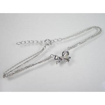 K10WG ホワイトゴールドダイヤモンドリボン ブレスレット|alljewelry|03