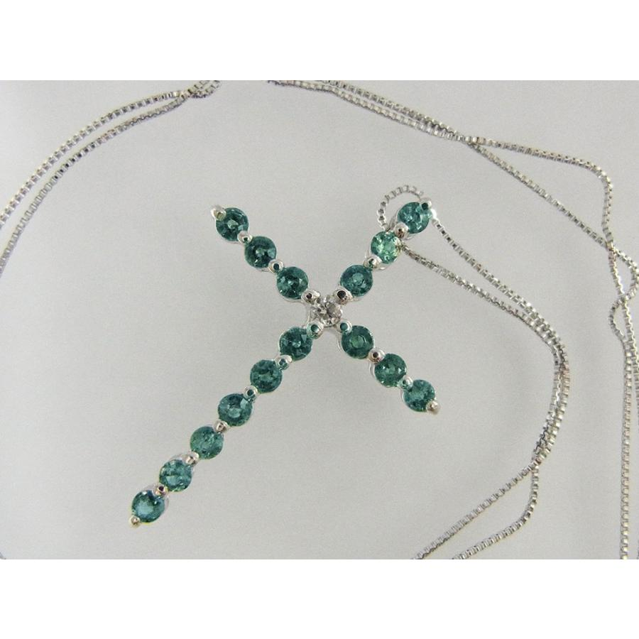天然 アレキサンドライト 0.60CT クロスモチーフ18KWG ダイヤモンドペンダントネックレス【誕生石6月】|alljewelry|04