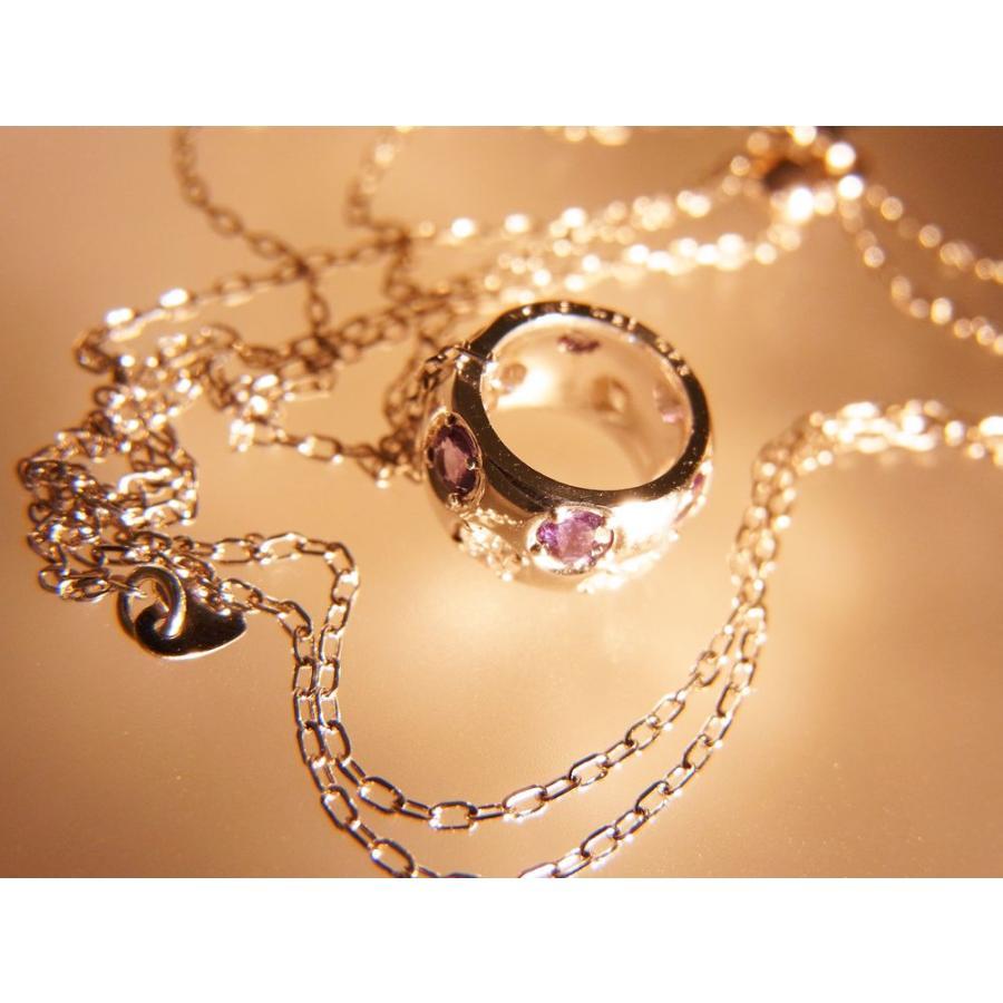 天然 アレキサンドライト ダイヤモンド ホワイトゴールド ラウンド リング ネックレス【誕生石6月】 alljewelry 03