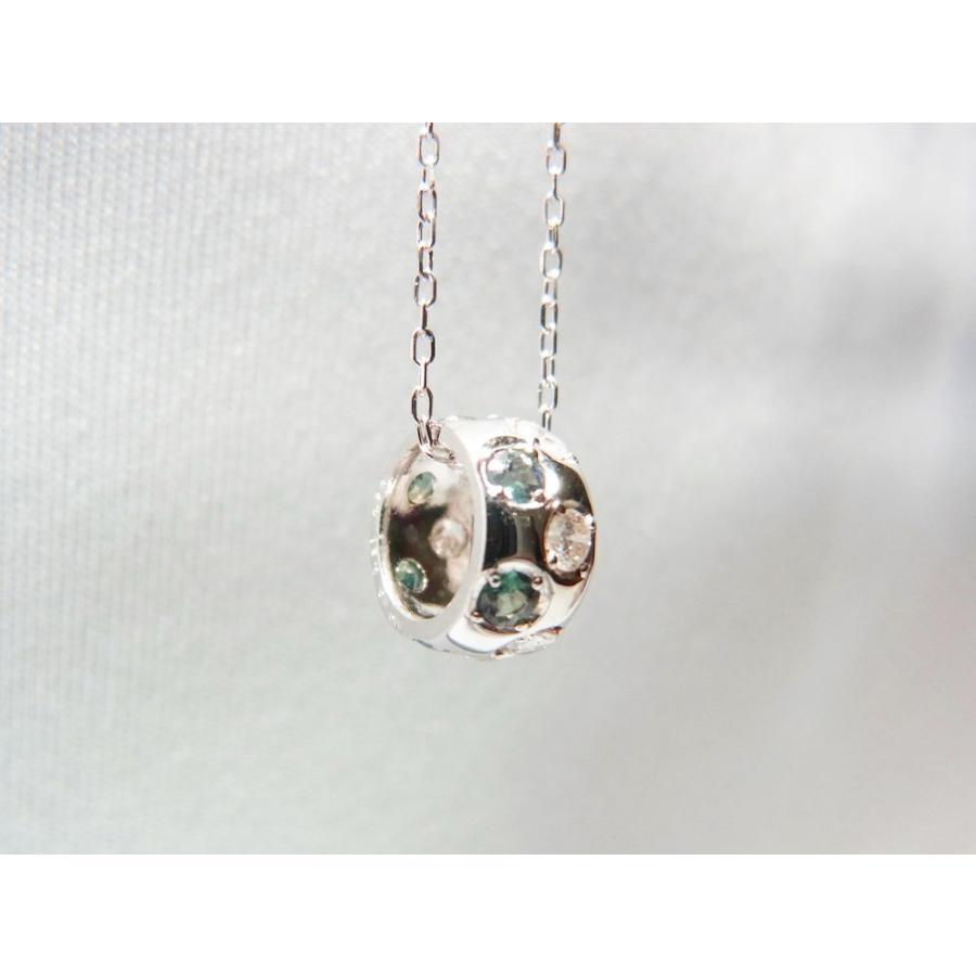 天然 アレキサンドライト ダイヤモンド ホワイトゴールド ラウンド リング ネックレス【誕生石6月】 alljewelry 04