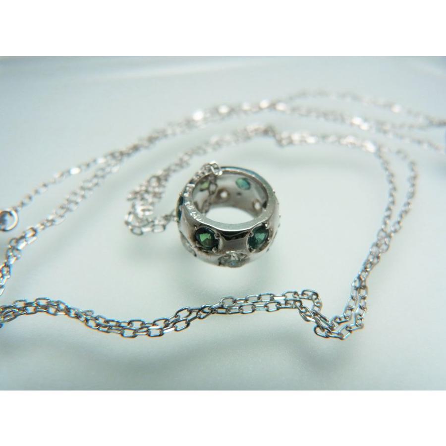 天然 アレキサンドライト ダイヤモンド ホワイトゴールド ラウンド リング ネックレス【誕生石6月】 alljewelry 05