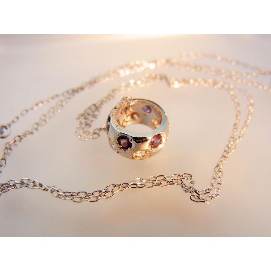 天然 アレキサンドライト ダイヤモンド ホワイトゴールド ラウンド リング ネックレス【誕生石6月】 alljewelry 06