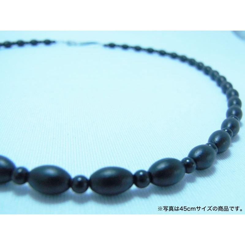 ブラックシリカ ネックレス ソレールSV [60cm] 厚生労働省認可医療機器ジュエリー (認証番号:223AKBZX00188000)|alljewelry|02