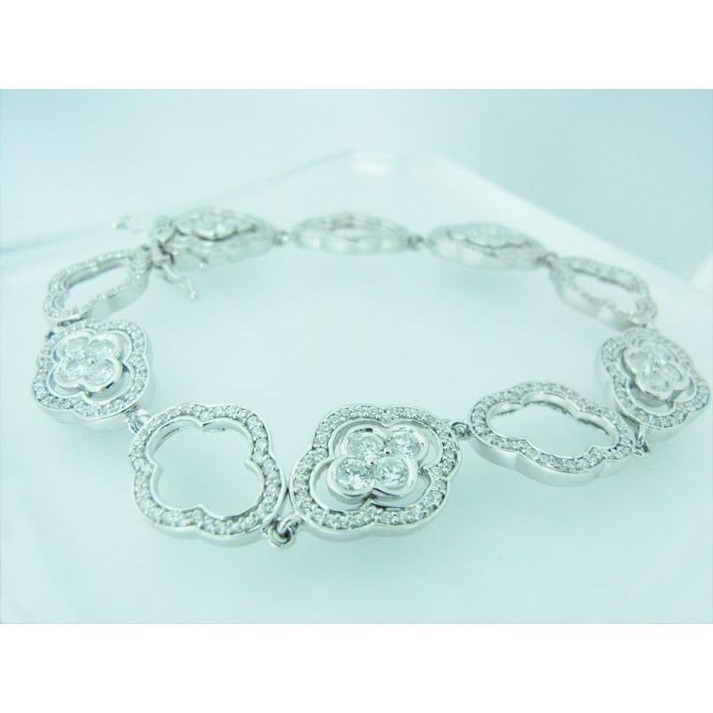 CZダイヤ(キュービック・ジルコニア)3.104カラット スクエアブレスレット|alljewelry