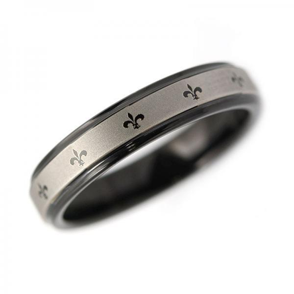 タングステン リング フレアマーク 4mm ブラック【即納】|alljewelry