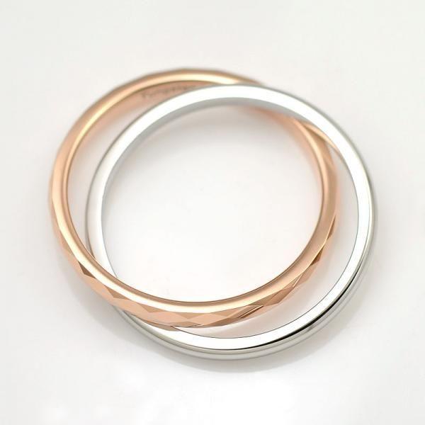 タングステン リング&SUS316L 2連リング ピンク【即納】|alljewelry|03