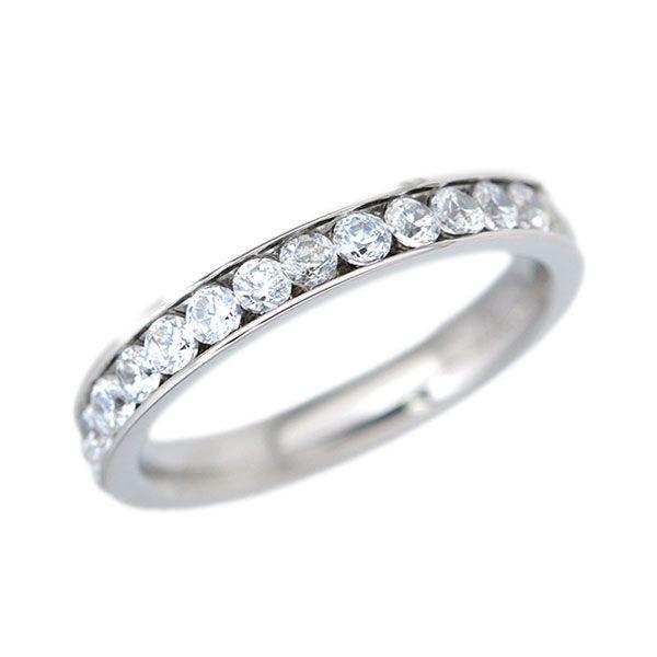 ステンレス CZフルエタニティリング シルバー【即納】 alljewelry