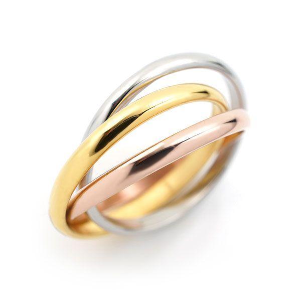 ステンレス 3連リング 3カラー リング|alljewelry