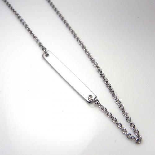 ステンレス プレートチェーン 45cm【即納】|alljewelry