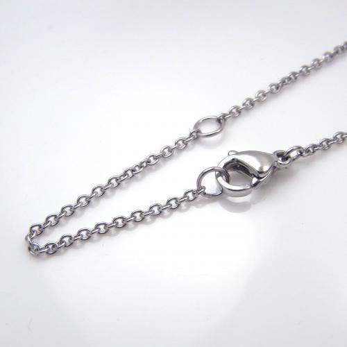 ステンレス プレートチェーン 45cm【即納】|alljewelry|03