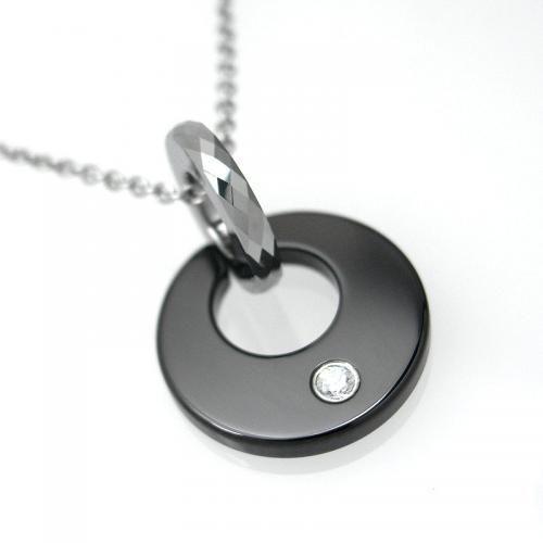 タングステン ペンダント トップ サークル ブラック【即納】|alljewelry