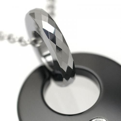 タングステン ペンダント トップ サークル ブラック【即納】|alljewelry|04