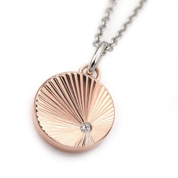 ステンレス CZシャインカットPDT 丸 ピンク【即納】|alljewelry