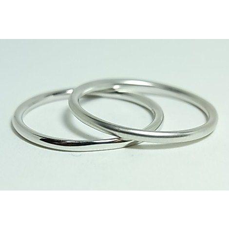 K10ホワイトゴールド シンプルペアリング alljewelry